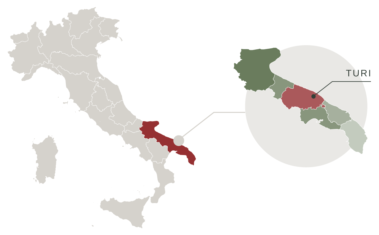 mappa turi puglia italia