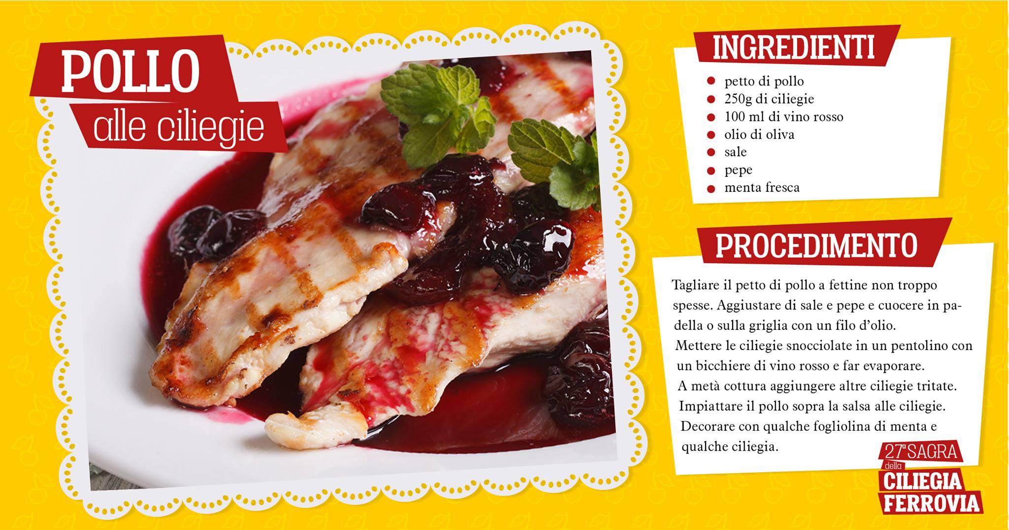 pollo alle ciliegie ricetta